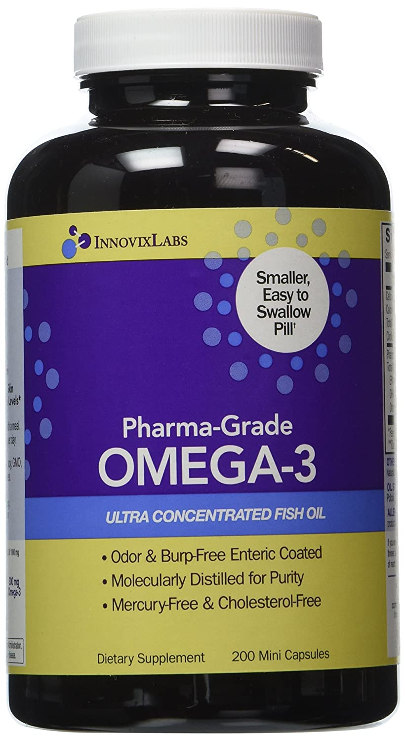 Pharma grade omega 3 by innovixlabs ultra concentrated for Fish oil 500mg