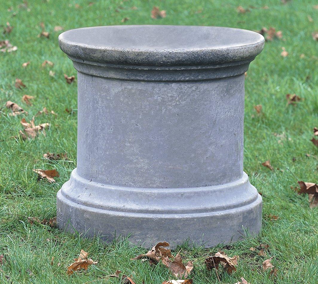 Campania International PD-108-GS Plain Round Pedestal, Grey Stone Finish by Campania International