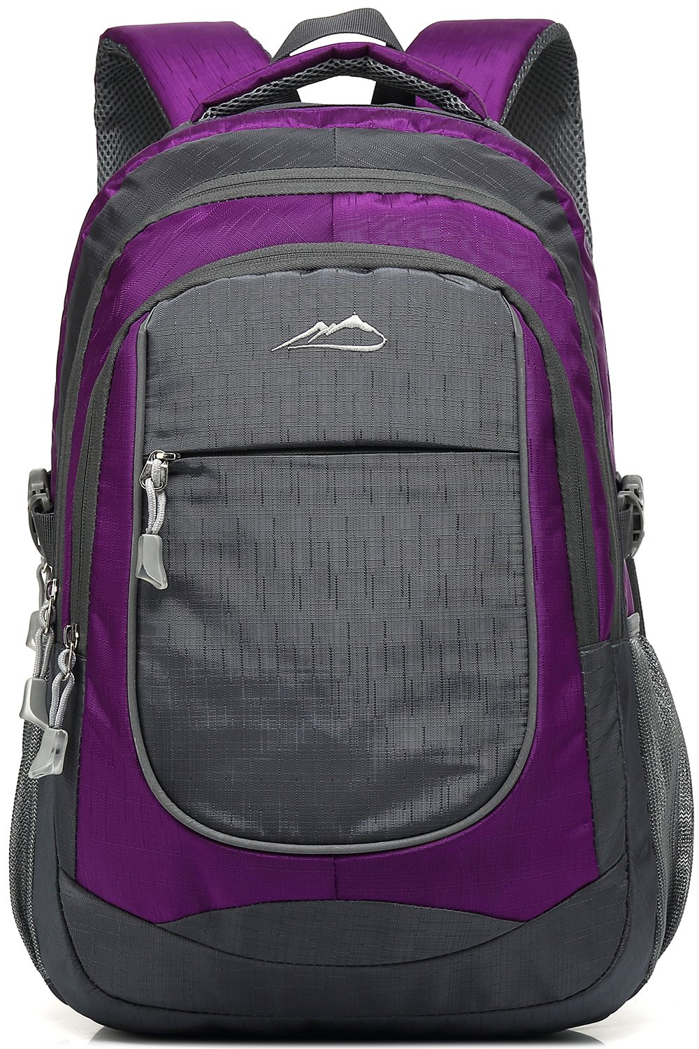 Backpack Bookbag For School College Student Travel Business Hiking Fit Laptop Up to 15.6 Inch (Purple)