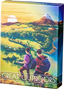 Great Outdoors Playing Cards, 30 Hand-Drawn Sport and Outdoor Activity Designs with Hiking, Snow, Hunting, Premium Deck of Cards with FREE Card Game eBook, Cool Poker Cards, Standard Size Playin Cards