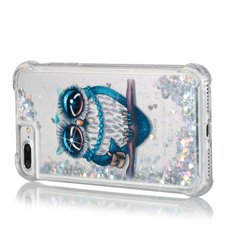 d107b4dfa89 Funda iPhone 8,Funda iPhone 7,TOUCASA Glitter Brillante Liquida  Transparente TPU Silicona, Ampliar imagen