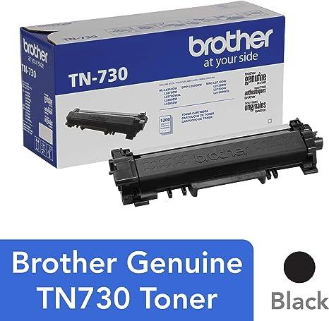 Brother TN-730 DCP-L2510 L2530 L2550 HL-L2310 L2350 L2370 L2375 L2390 MFC-L2710 L2713 L2715 L2717 L2730 L2750 Toner Catridge (Black) in Retail ...
