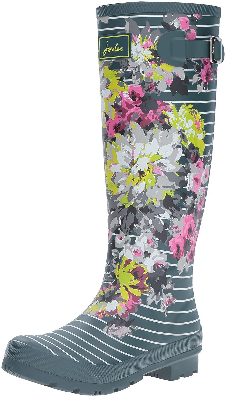 Joules Women's Welly Print Rain Boot B01F00DE1G 6 B(M) US|Stripe Floral