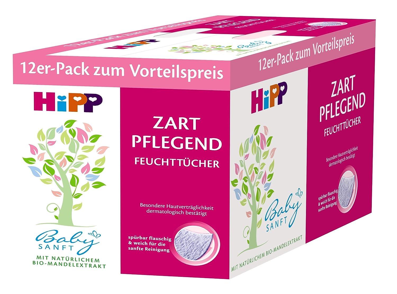 HiPP Babysanft Feucht-Tücher, 3er Pack (3 x 12 Stück) 3er Pack (3 x 12 Stück) 9506