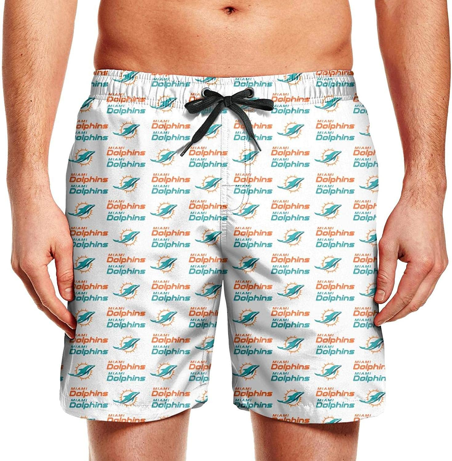 Octayi Mens Swimming Beach Boardshort Athletic Casual Quick Dry Swim Trunks
