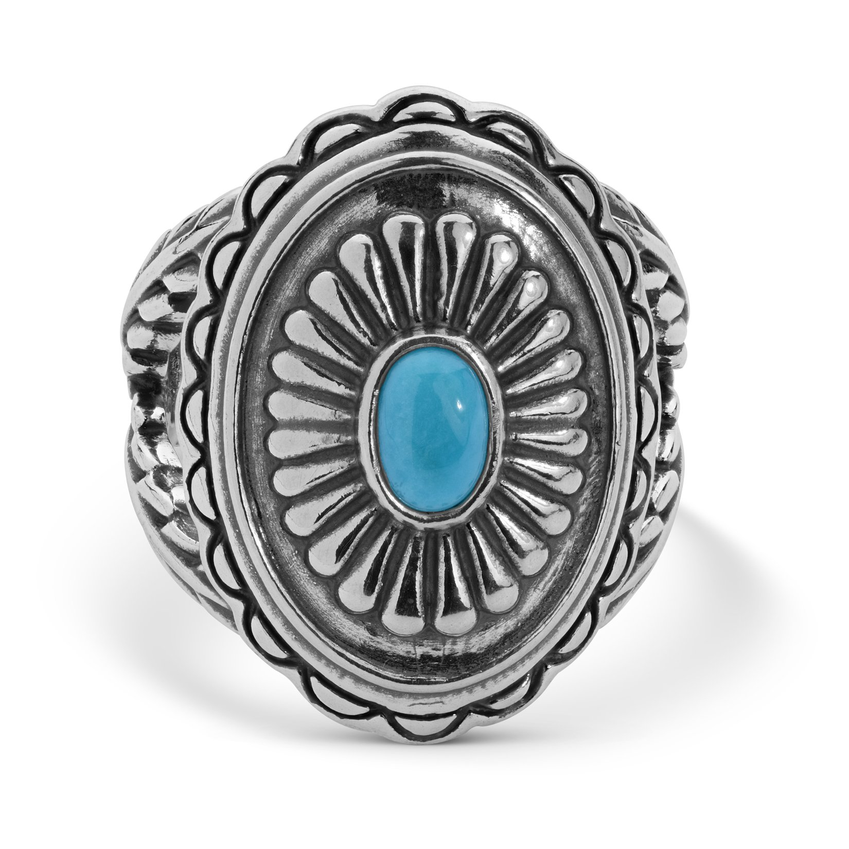929 Silver Sleeping Beauty Concho Ring Size 8 by American West (Image #5)