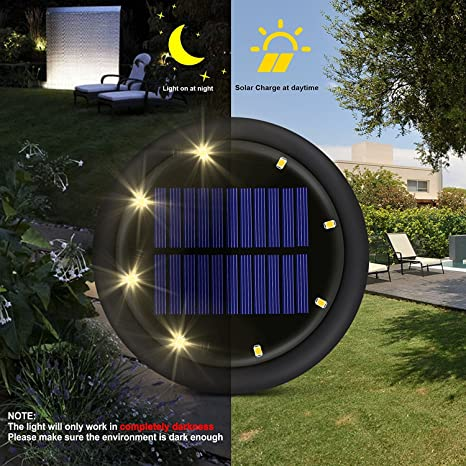 Solar Ground Lights, Outdoor In Ground Light, 8 LED Waterproof Pathway  Lights,