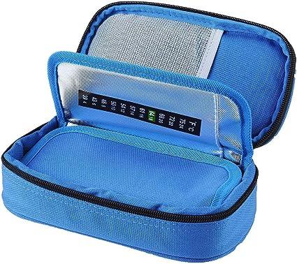 Sac /à insuline Portable Sac isotherme /à insuline Organisateur Isolation Cooling Travel Case Id/éal pour la maison et les voyages Noir