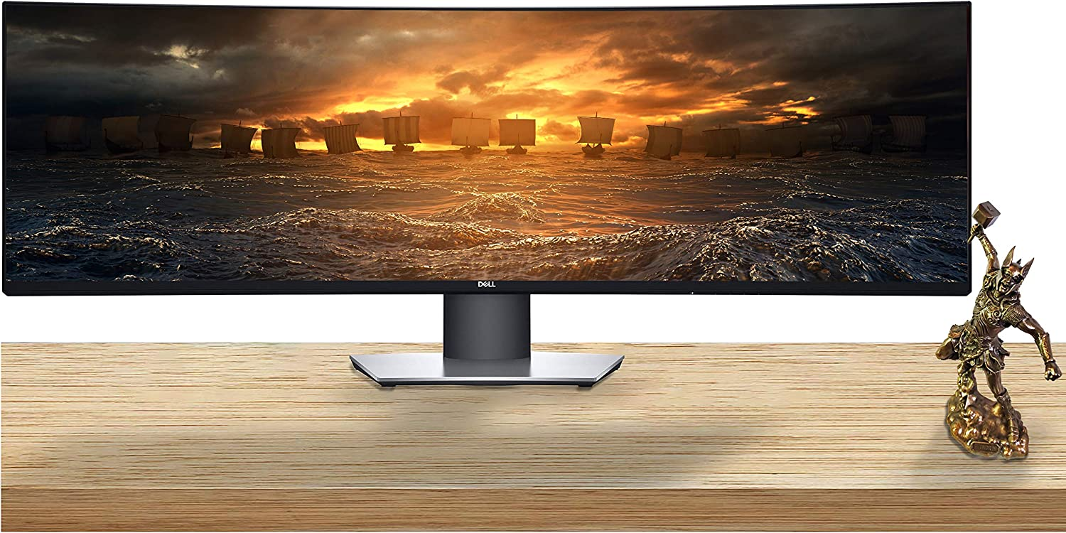 Dell U4919DW UltraSharp 49-inch LED Backlit Curved Gaming Monitor with IPS, Vesa Compatible, Anti-Glare, Tilt, Swivel (HDMI, USB 3.0, USB-C, DisplayPort)