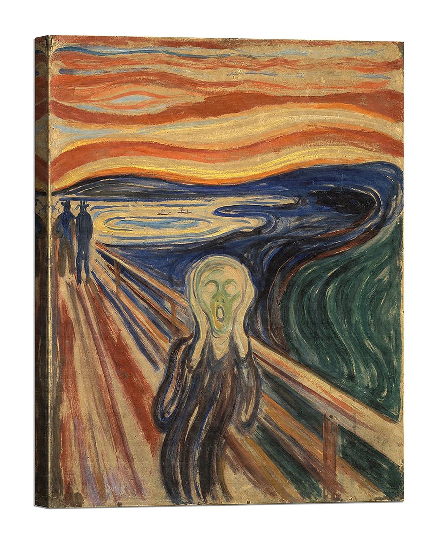 Bild auf Leinwand Leinwand Leinwand mit Keilrahmen aus Holz Edvard Munch The Scream 135x100 CM B078927SB8 | Verschiedene aktuelle Designs  5695ba
