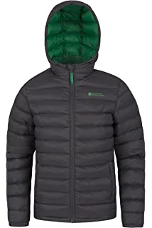ad2774637 Mountain Warehouse Seasons Boys Padded Jacket - Water Resistant Rain Coat