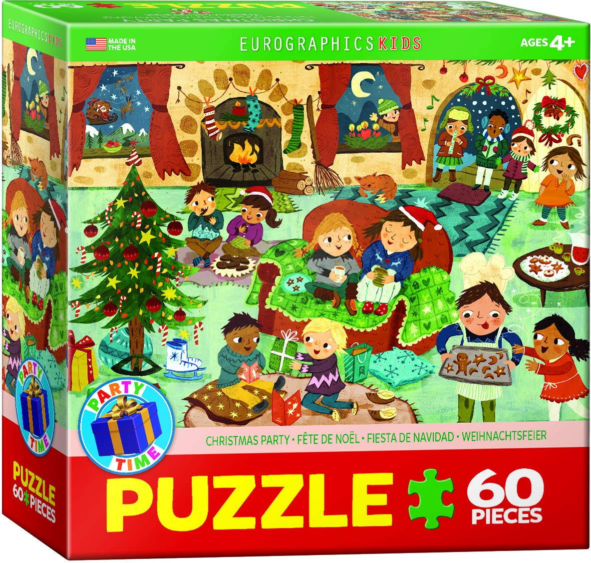 Weihnachtsfeier Cartoon.Party Time Christmas 60 Piece Puzzle