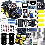 ELEGOO UNO R3 per Arduino Progetto di una Piccola Robot Auto Car V2.0 con Tutorial in Italiano con UNO R3, Modulo Segui Linea, Sensore a Ultrasuoni, Modulo Bluetooth ecc. Lultimo Gioco Intelligente ed Educativo per Bambini