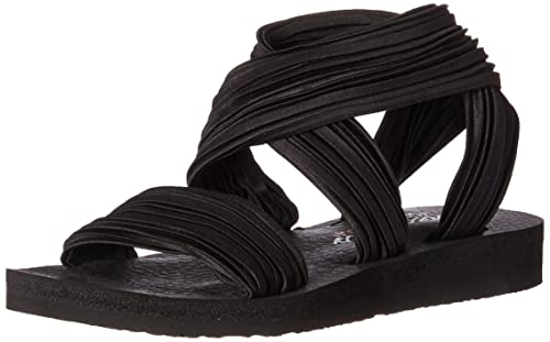 Sandalias y Chanclas para Mujer, Color Negro, Marca Skechers, Modelo Sandalias Y Chanclas para Mujer Skechers Meditation Silly Sky Negro