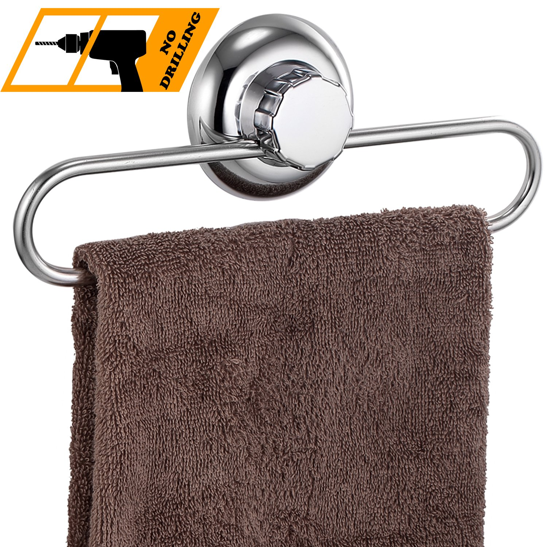 MaxHold système de vide Porte éponge à ventouse - adhérer, pas de perçage - acier inoxydable - pour salle de bains et cuisine