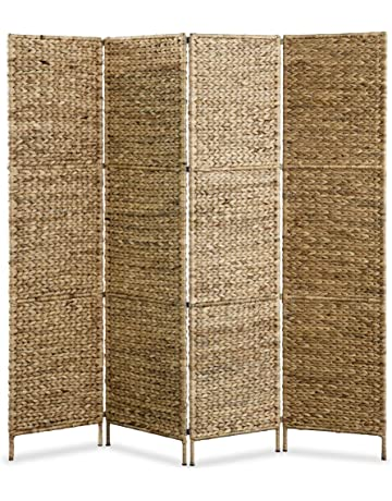 c497be59295 Festnight- Biombo Separador de Ambientes 4 Paneles 160x160 cm