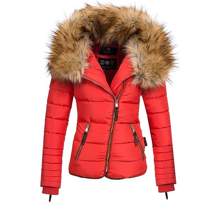 size 40 f3ef4 089bb Navahoo AZU Damen Winter Jacke Parka Steppjacke großer Kunst-Fellkragen  XS-XL