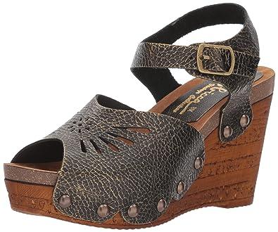 Sbicca Womens Langsa Wedge Sandal Pewter Size 70