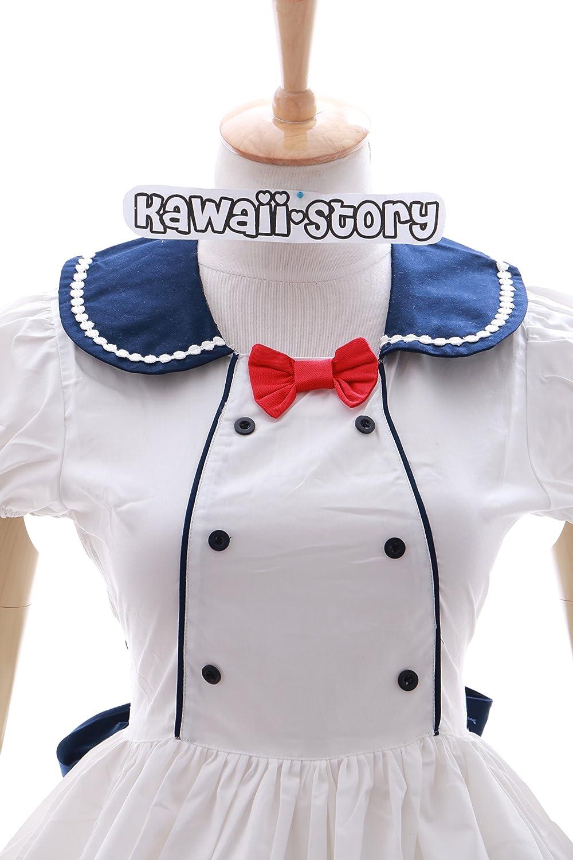 e2c925e16 ... Kawaii-Story JL de 602 Miku Miku Miku Sailor Escolar Uniforme Lolita  Vestido Blanco Harajuku ...