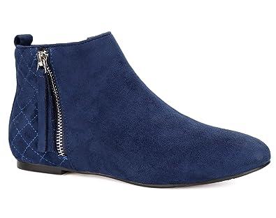 43d0d74d18c5 MaxMuxun Womens Shoes Riding Biker Zip Flat Classic Ankle Booties Leopard Faux  Suede Boots Size 5