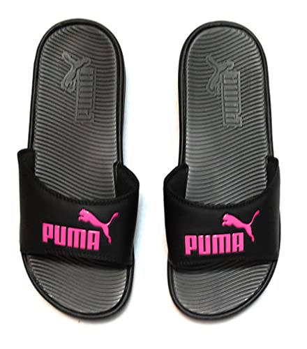 498087d2a05f Image Unavailable. Image not available for. Color  PUMA Women s Pop Cat  Athletic Slide Sandals ...