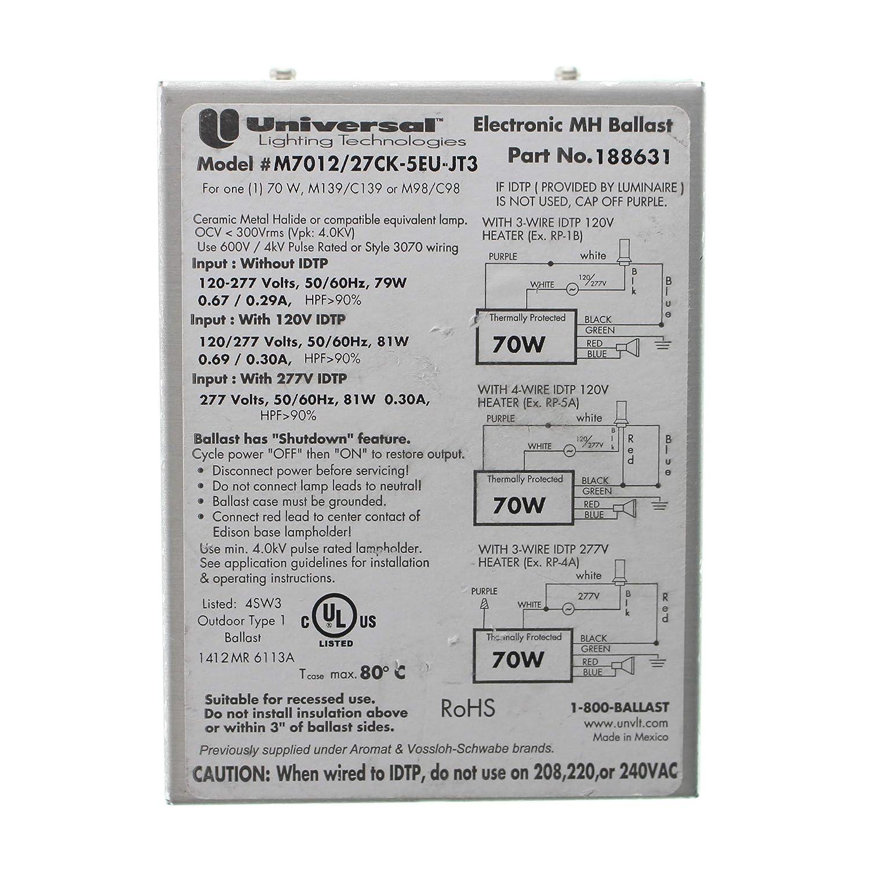 1000 watt metal halide ballast wiring diagram amazon com universal m7012 27ck 5eu jt3 electronic mh metal  universal m7012 27ck 5eu jt3 electronic