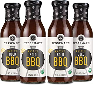 product image for Tessemae's 'Matty's' Bold BBQ Sauce, Whole30 Certified, Keto Friendly, USDA Organic, 10 oz. bottles (4-Pack)