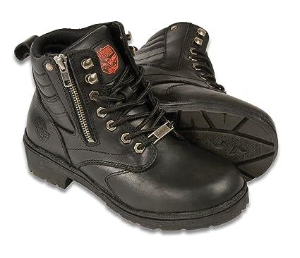 Black, Size 9 Milwaukee MBL9320-BLK-9 Womens Side Zipper Plain Toe Boots