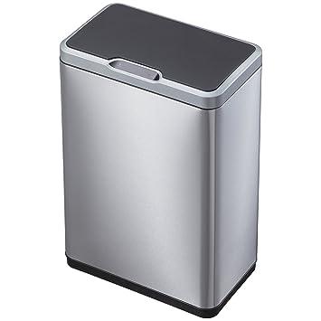 EKO 92785 1 Mirage Motion Sensor Touchless Stainless Steel Trash Can | 50  Liter