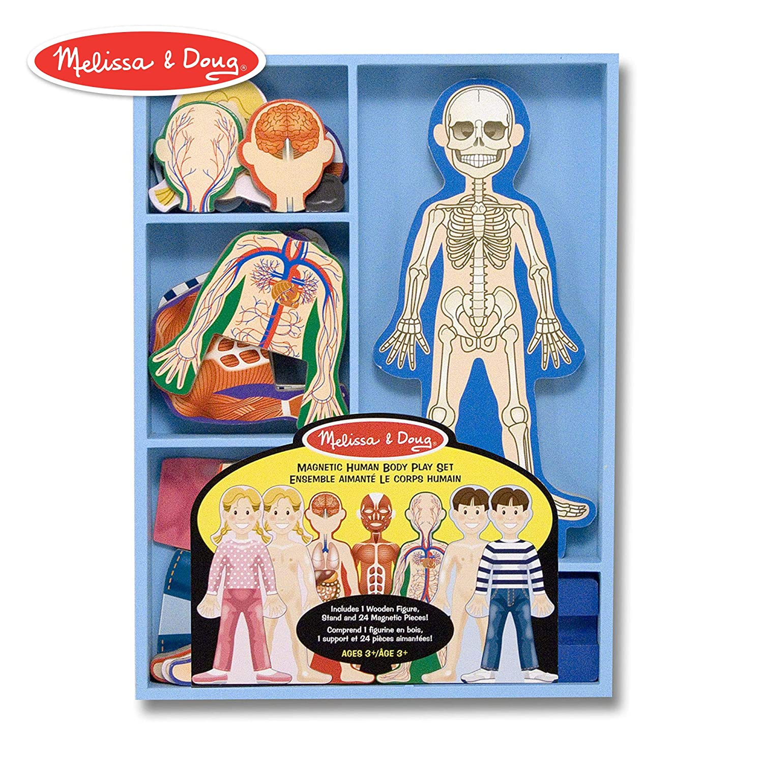 Melissa & Doug Magnetic Human Body Anatomy Play Set-Best Science toy for kids