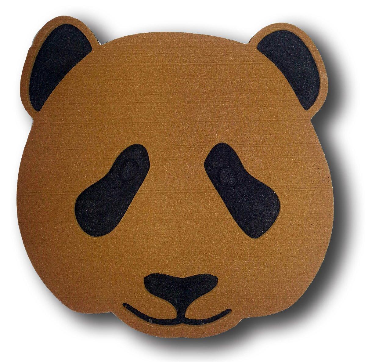 ToeJamR Stomp Pad - PANDA BEAR FACE - Brown