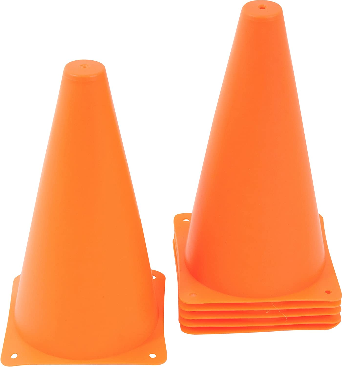 Trademark Innovations Plastic Cone Sports Training Gear, 9-Inch : Soccer Training Cones : Sports & Outdoors