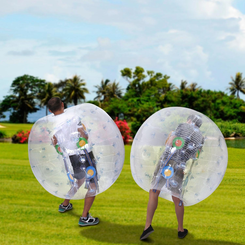 lantusi 1.2 M直径インフレータブルバブルサッカーバンパーボール0.8 MM PVC透明材質Zorb Ball For Kids And大人 B075R2QVFL ホワイト ホワイト