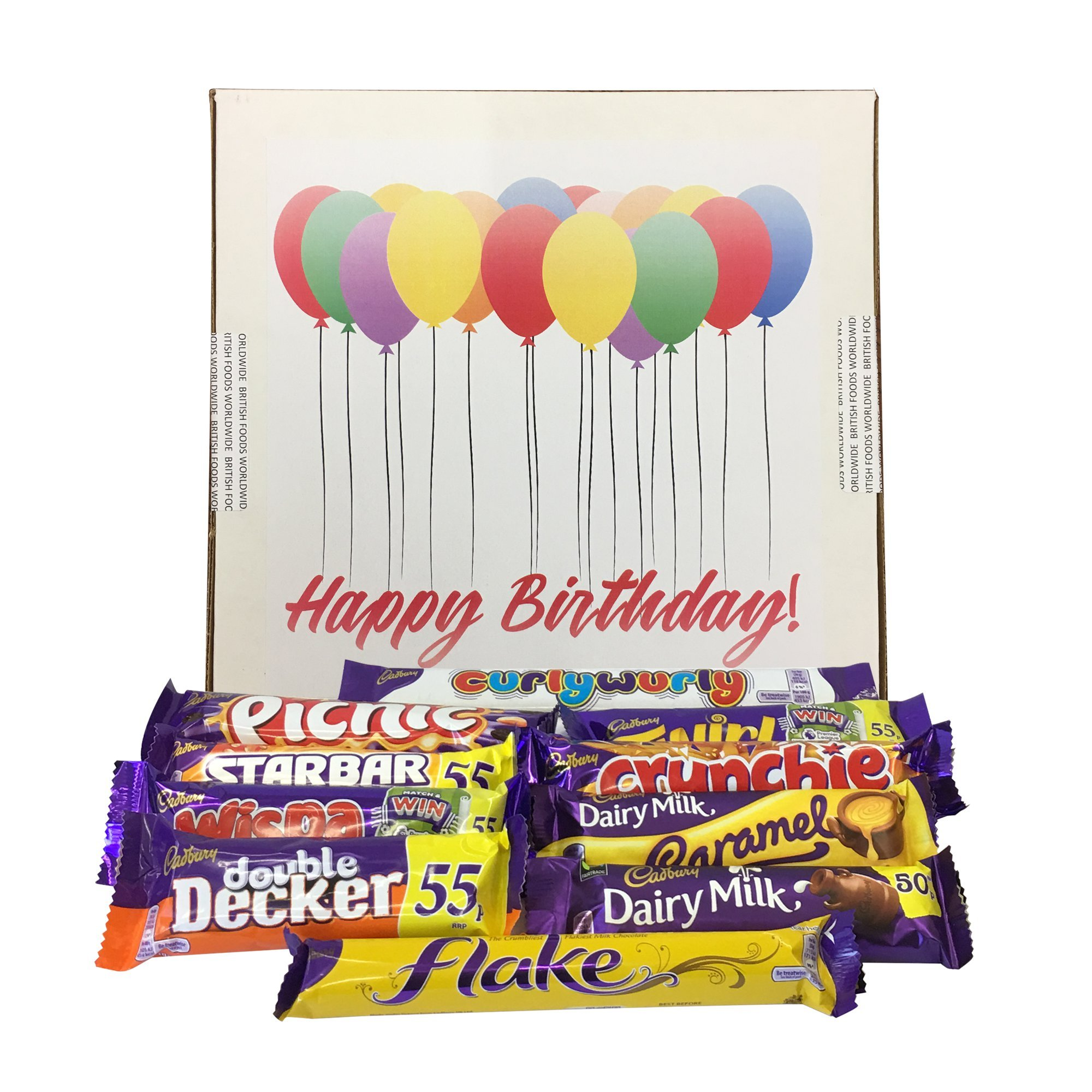 Cadbury British Chocolate Birthday Gift Box & Personalised Card by British Foods Worldwide