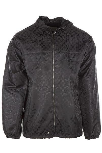 buy online 50e18 734a7 Gucci Giubbotto Giubbino Uomo Originale Nero: Amazon.it ...