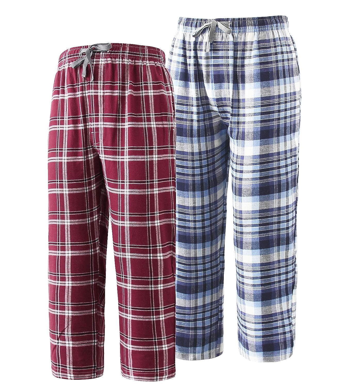 Big Boys Pajamas Pants 100% Cotton Plaid Pajama Lounge Bottoms Size 8 10 12  14 16 Clothing Sleepwear & Robes