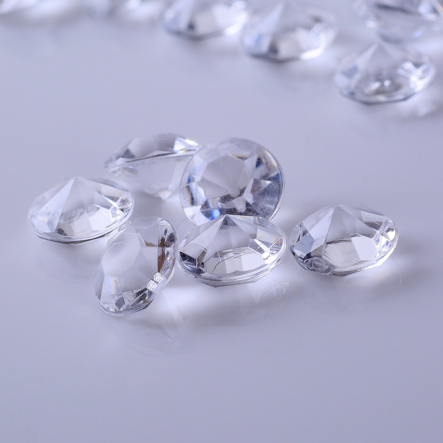 ElE&GANT 2000Pcs 6.5mm Clear Acrylic Diamond Gems For Table Scatter Table Confetti