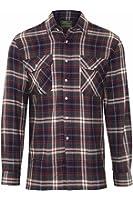 Mens Champion Kempton Country Style Casual Check Long Sleeved Shirt