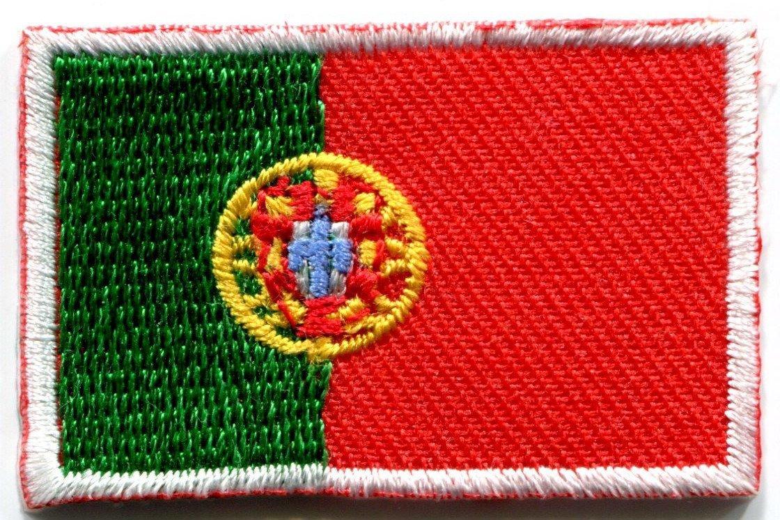 Bandera de Portugal portugués Europa bordado Applique Iron-on Patch: Amazon.es: Hogar