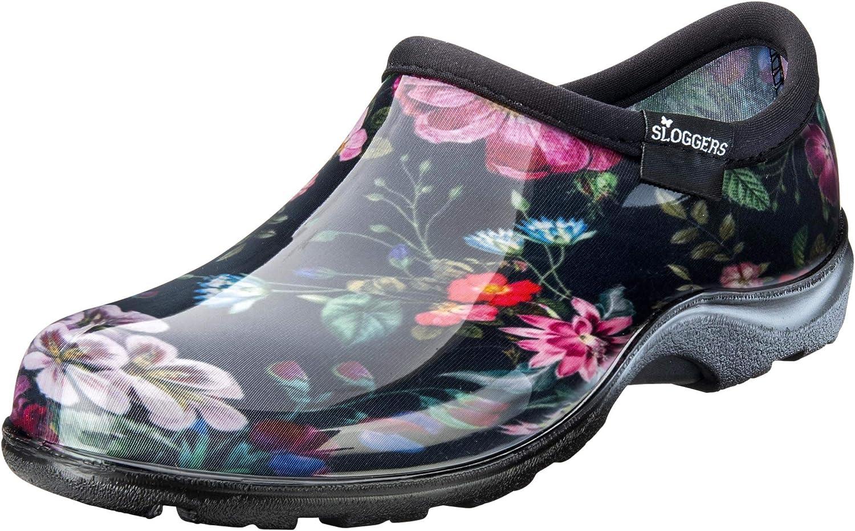 Sloggers Women's Waterproof Rain Garden Shoe Comfort Insole (9, Night Garden)