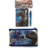 Boys Licensed Pencil Case with Notepad and Pen Set - Avengers, Jurassic World & Batman