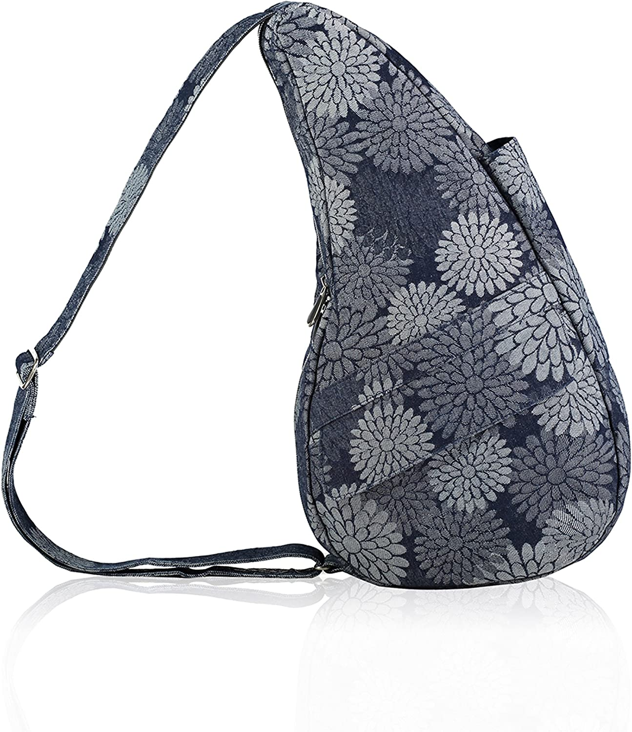 AmeriBag Healthy Back Bag tote Print Small Flower Power Grey