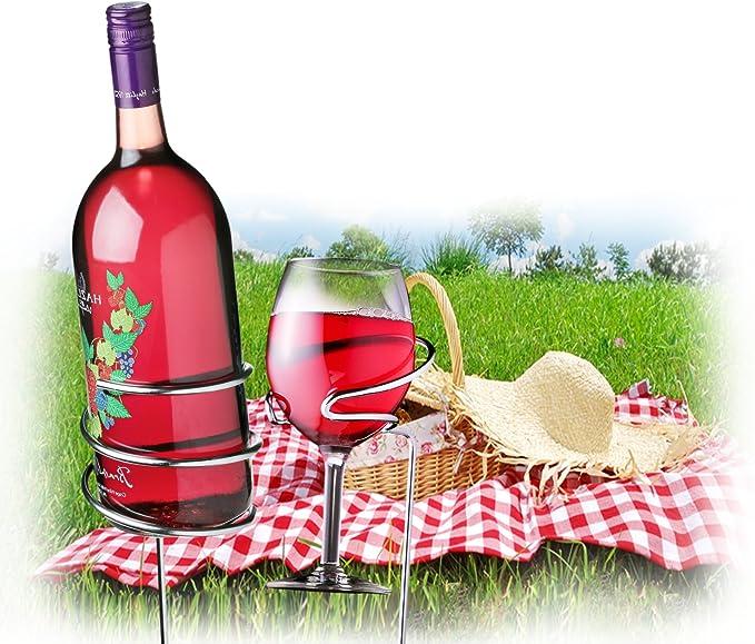 2e664d7489b Buy Wine Bottle Holder - Wine Glass Holders - Backyard Outdoor ...
