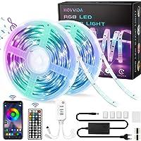 20M LED Strip, HOVVIDA Bluetooth Muziek LED-strip voor Kamer, Aangestuurd door APP, IR-afstandsbediening en Controller…