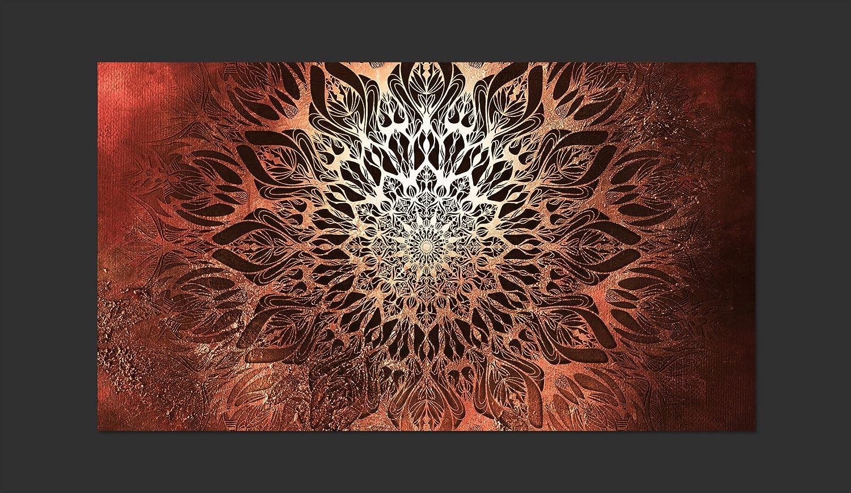 murando Papier peint intiss/é Mandala 250x175 cm D/écoration Murale XXL Poster Tableaux Muraux Tapisserie Photo Trompe loeil Ornament Orient Zen f-A-0659-a-b