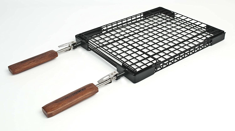 Charcoal Companion CC3050 Flip N' Easy Rectangle Grilling Basket