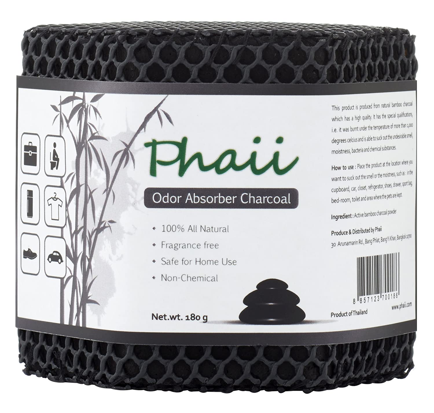 Bamboo Activated Charcoal Odor Absorber | Best Air Purifier | Natural Odor Eliminator & Control Moisture in Refrigerator, Closet, Car, Bag, Room - Shoe Deodorizer | 100% Chemical Free -Lasts up 2 Year