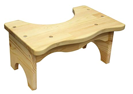 Pine Wood Toilet Step Stool Squatty Full Squat Seat Wooden ...