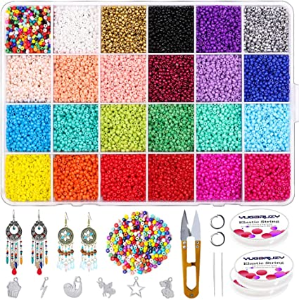DIY jewelry pendant kit with beads and accessories identical to the photo