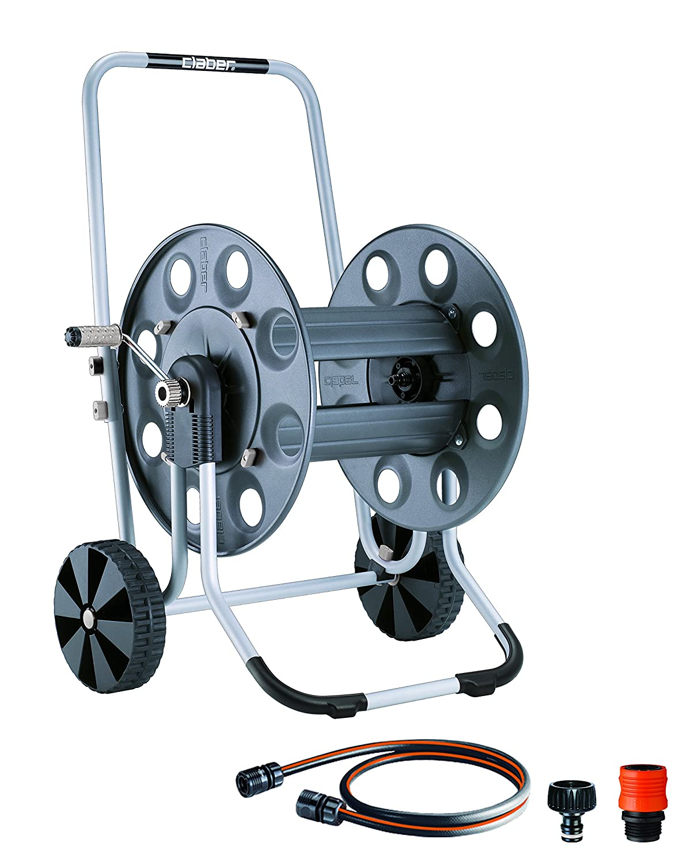 Claber 8894 Metal Gemini Garden Hose Reel with 230-Foot 5//8-Inch Capacity